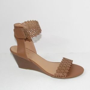 Franchesca's Sandal With Velcro Ankle Strap Brown